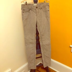Free People gray skinny corduroy pants